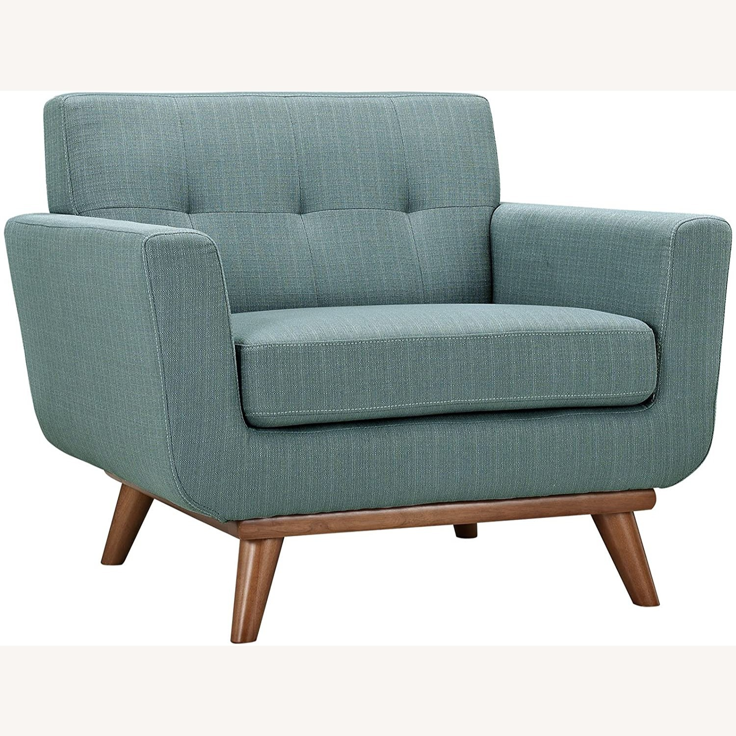 Armchair In Laguna Fabric W/ 3 Tufted Buttons - image-0
