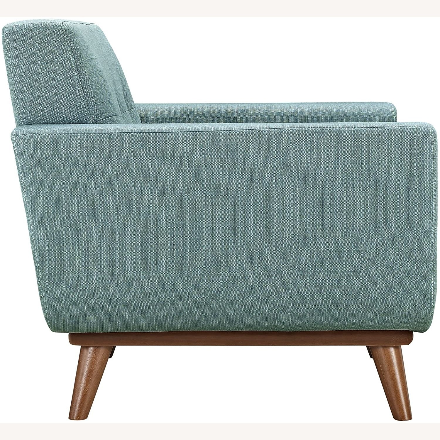 Armchair In Laguna Fabric W/ 3 Tufted Buttons - image-3