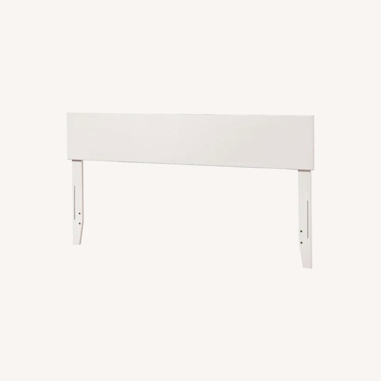 Wayfair White Full Headboard & Adjustable Bed Frame - image-0