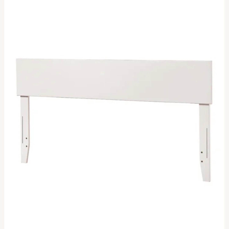 Wayfair White Full Headboard & Adjustable Bed Frame - image-1
