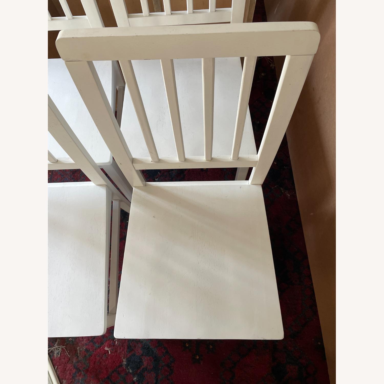 Wayfair 4 White Dining Chairs - image-6