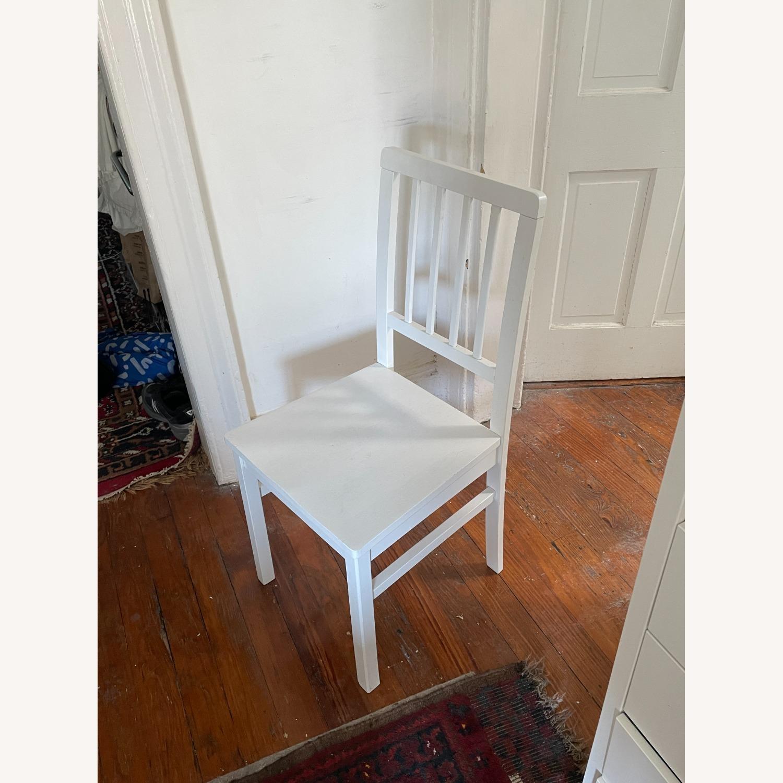 Wayfair 4 White Dining Chairs - image-3