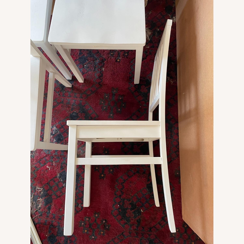 Wayfair 4 White Dining Chairs - image-1