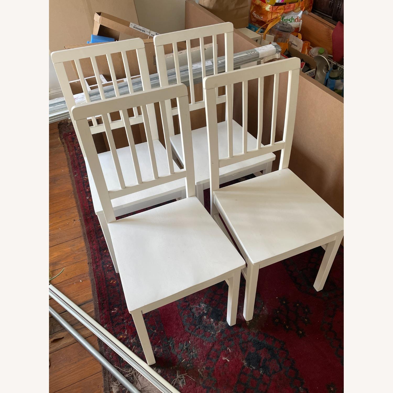 Wayfair 4 White Dining Chairs - image-4