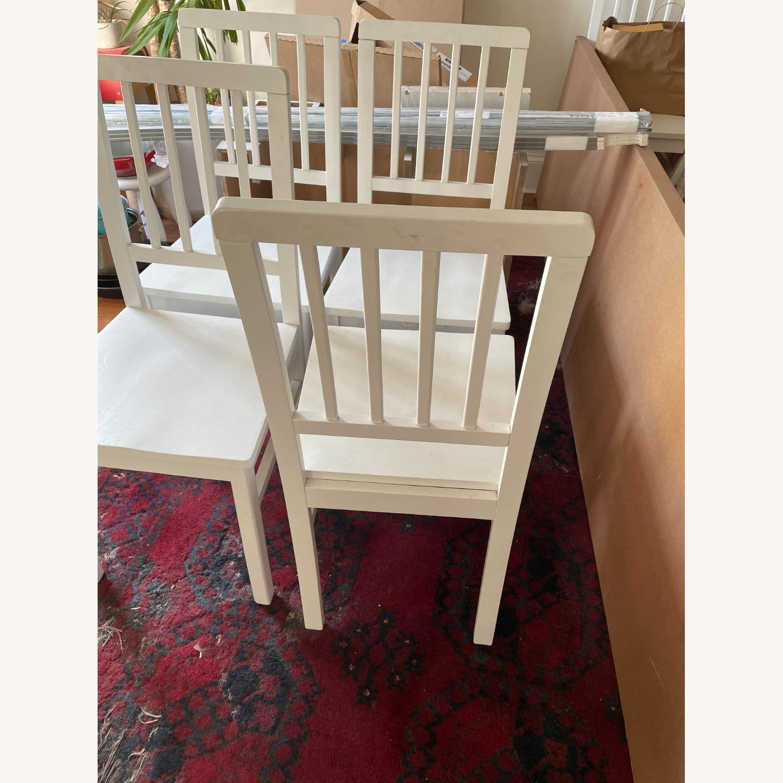 Wayfair 4 White Dining Chairs - image-7
