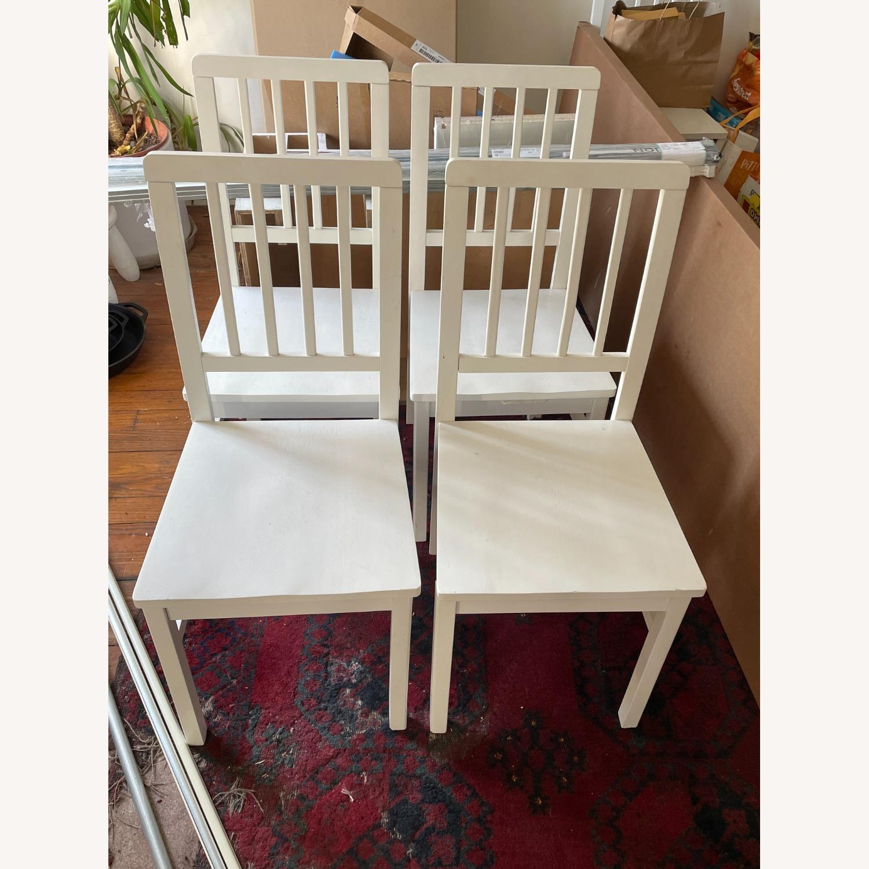 Wayfair 4 White Dining Chairs - image-5