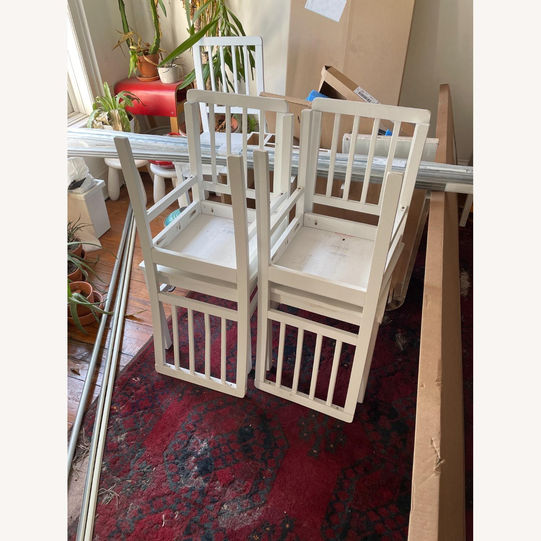 Wayfair 4 White Dining Chairs - image-2