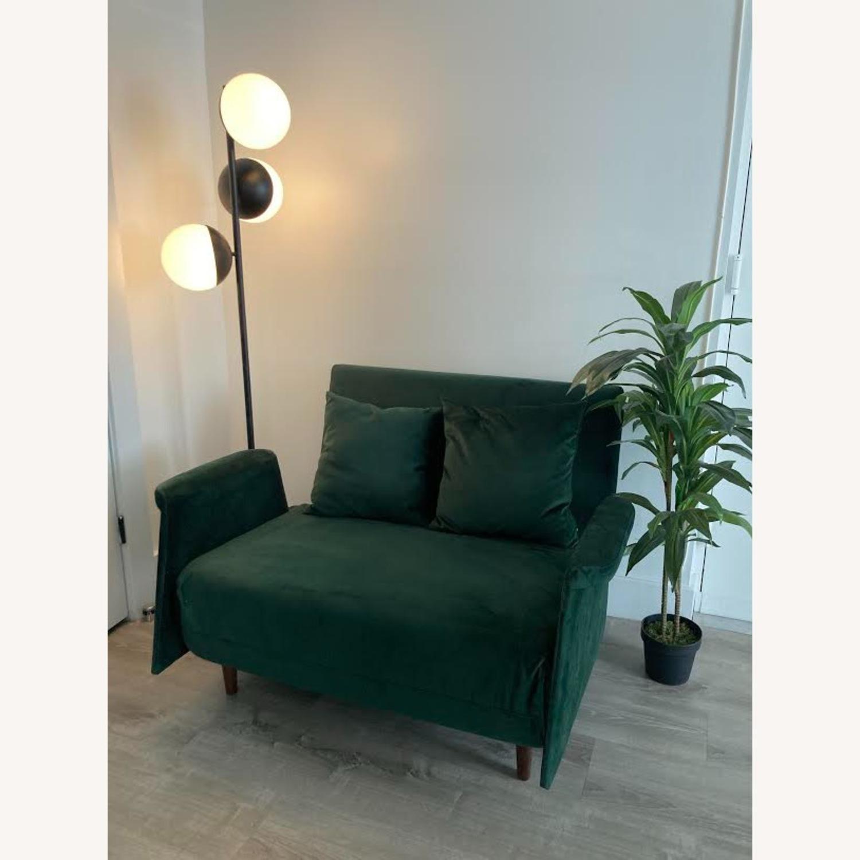 Wayfair Emerald Green Velvet Loveseat - image-3