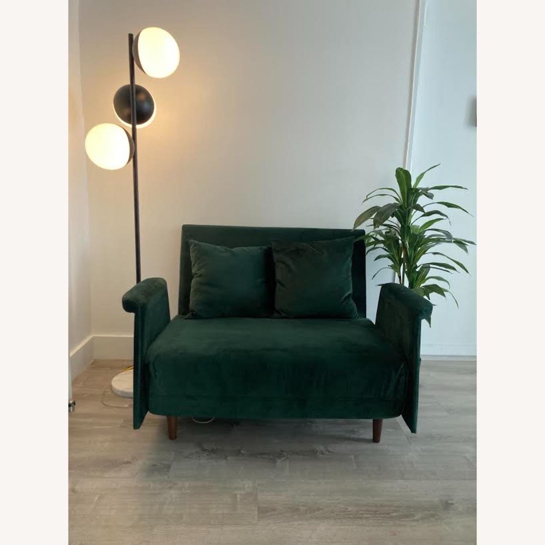 Wayfair Emerald Green Velvet Loveseat - image-2