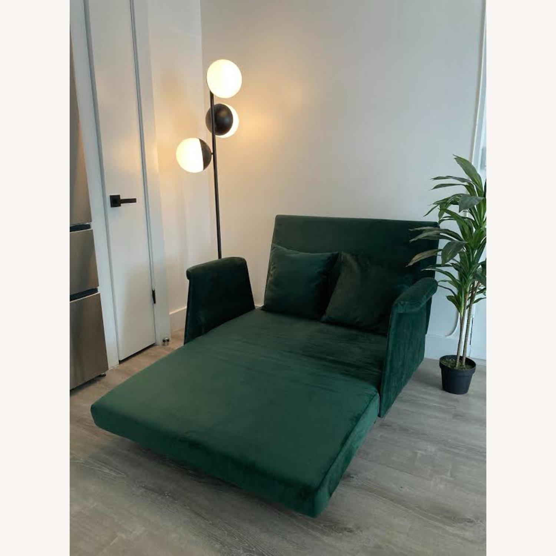 Wayfair Emerald Green Velvet Loveseat - image-4