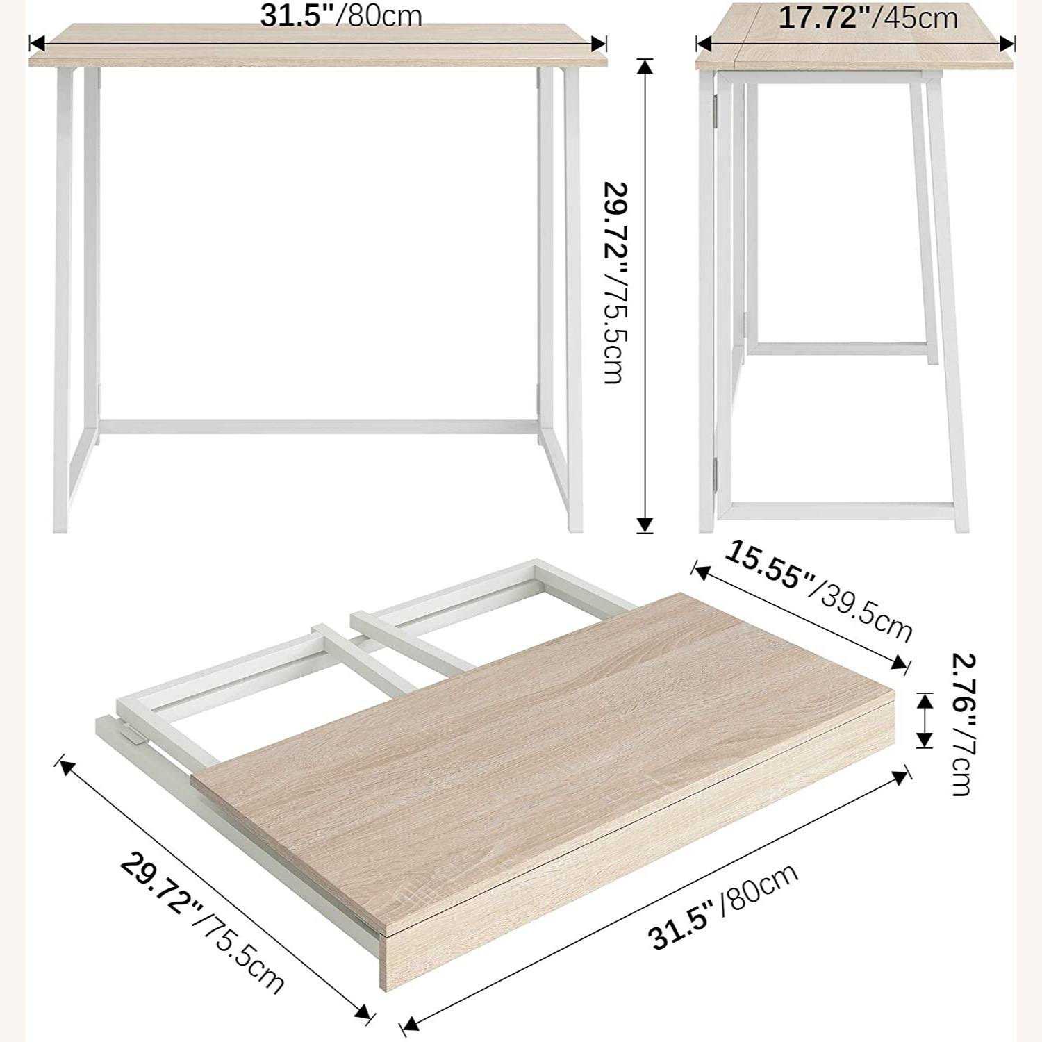 Small Folding Home Office Desk - image-3