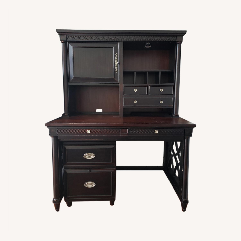 Aspenhome Desk, Hutch, and Filing Cabinet set - image-0