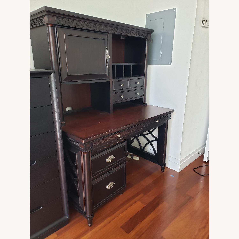 Aspenhome Desk, Hutch, and Filing Cabinet set - image-2