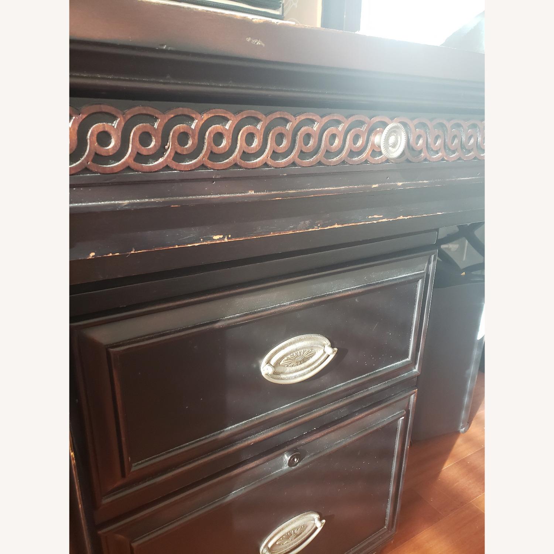 Aspenhome Desk, Hutch, and Filing Cabinet set - image-3