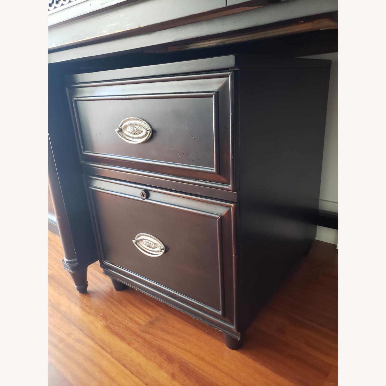 Aspenhome Desk, Hutch, and Filing Cabinet set - image-9