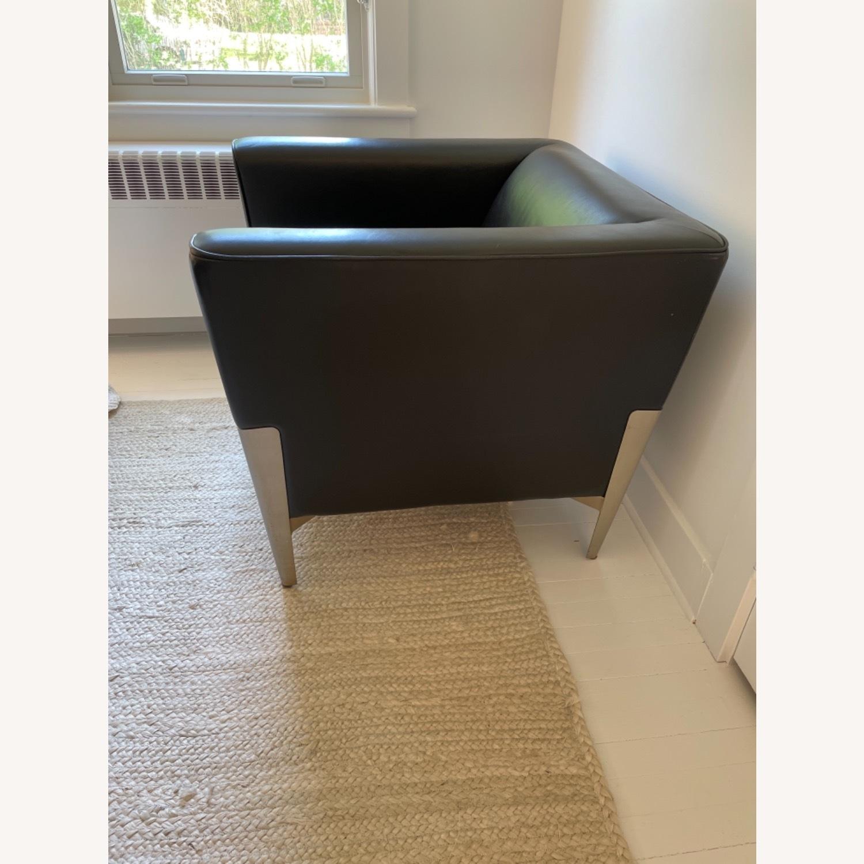 Midcentury Leather Armchair - Black - image-6