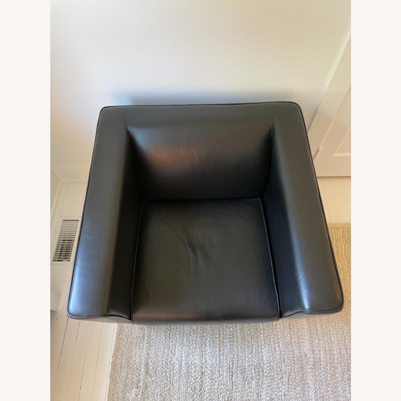 Midcentury Leather Armchair - Black - image-3