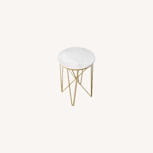 Used Target Marble Top Round Side Table for sale on AptDeco