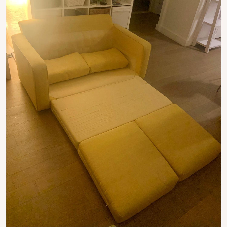 Urban Outfitters Yellow 2-Seat Sleeper Sofa - image-3