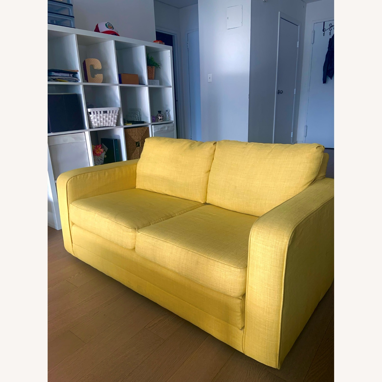 Urban Outfitters Yellow 2-Seat Sleeper Sofa - image-1