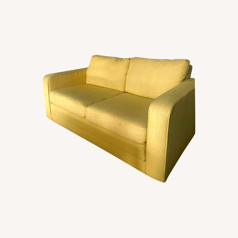 Urban Outfitters Yellow 2-Seat Sleeper Sofa - image-0