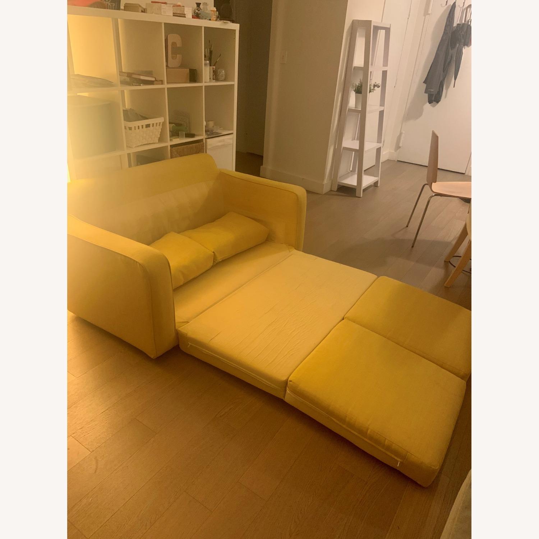 Urban Outfitters Yellow 2-Seat Sleeper Sofa - image-2