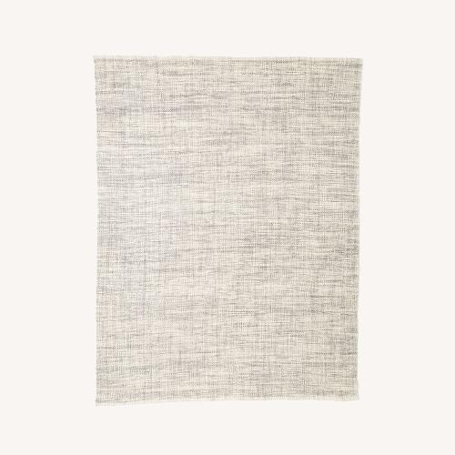 Used West Elm Heathered Basketweave Wool Rug for sale on AptDeco