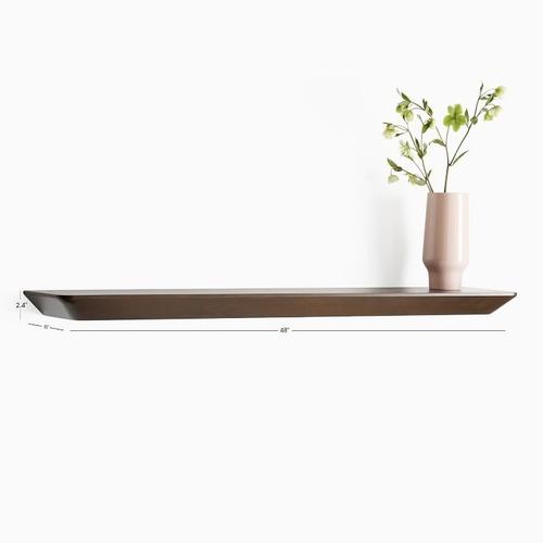 Used West Elm Slim Floating Shelf, Dark Walnut for sale on AptDeco
