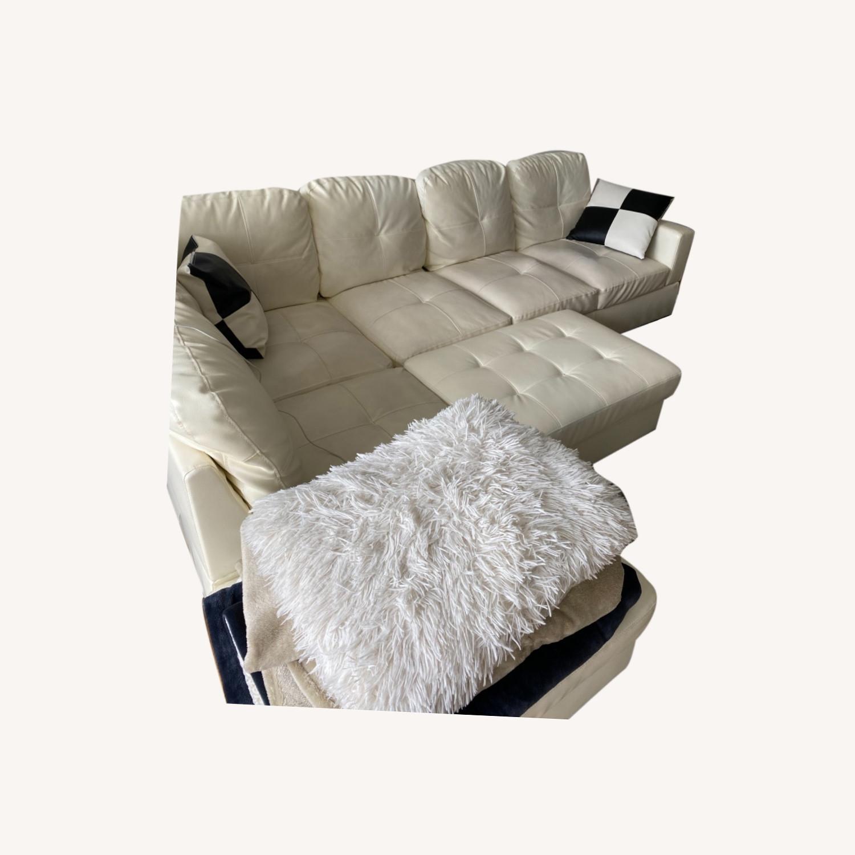 Wayfair White Sofa - image-0