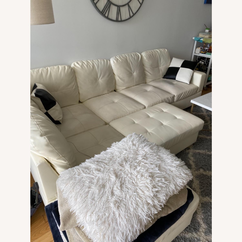 Wayfair White Sofa - image-1