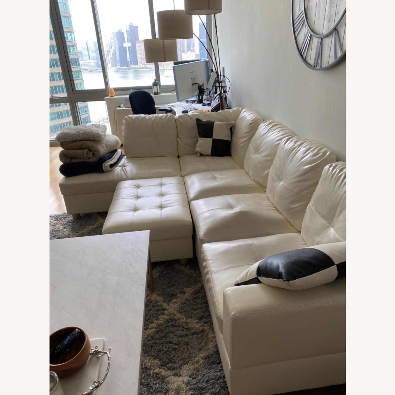 Wayfair White Sofa - image-4