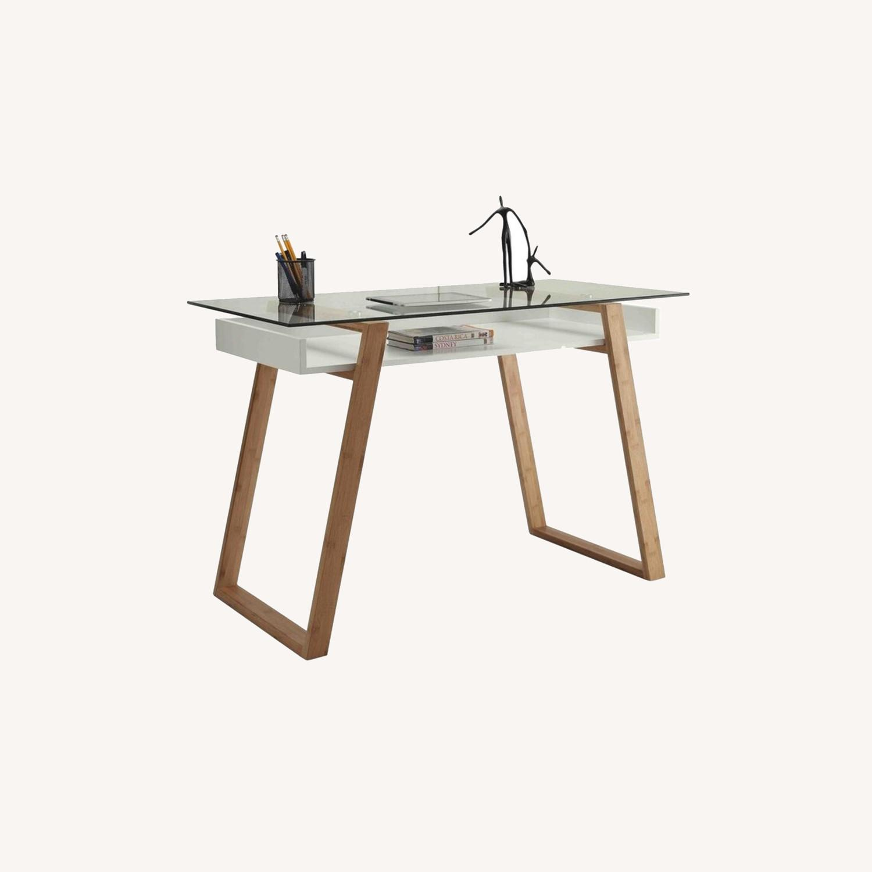 Wayfair Bartling Glass Desk - image-0
