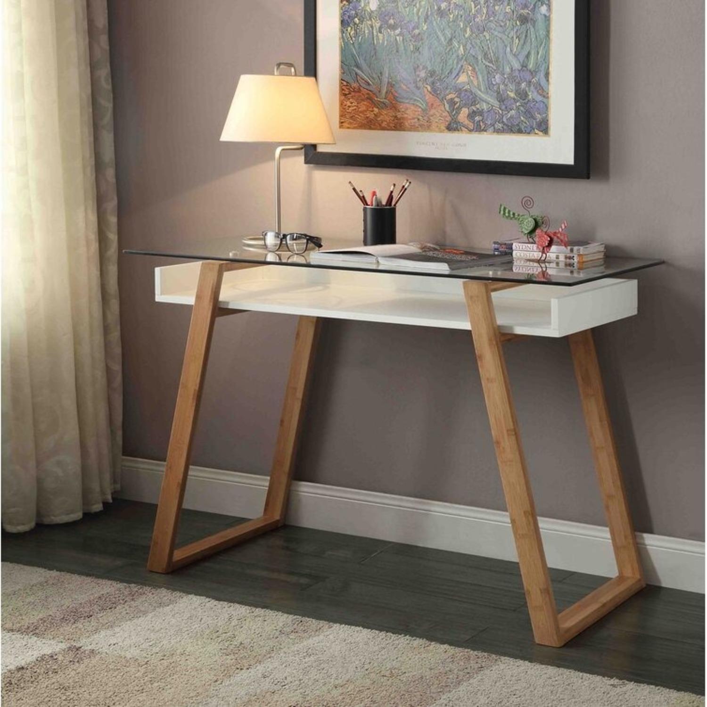Wayfair Bartling Glass Desk - image-2