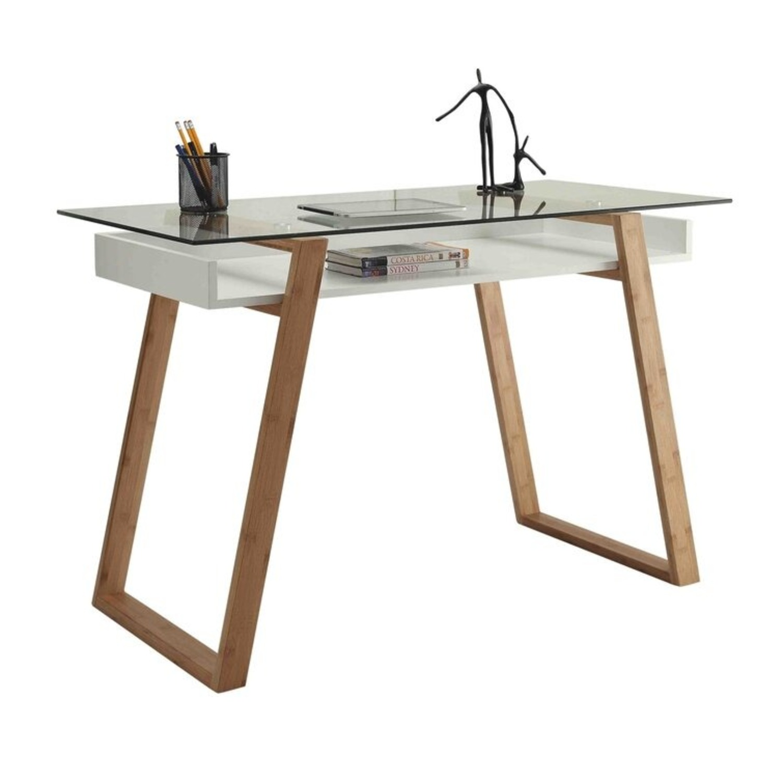 Wayfair Bartling Glass Desk - image-1