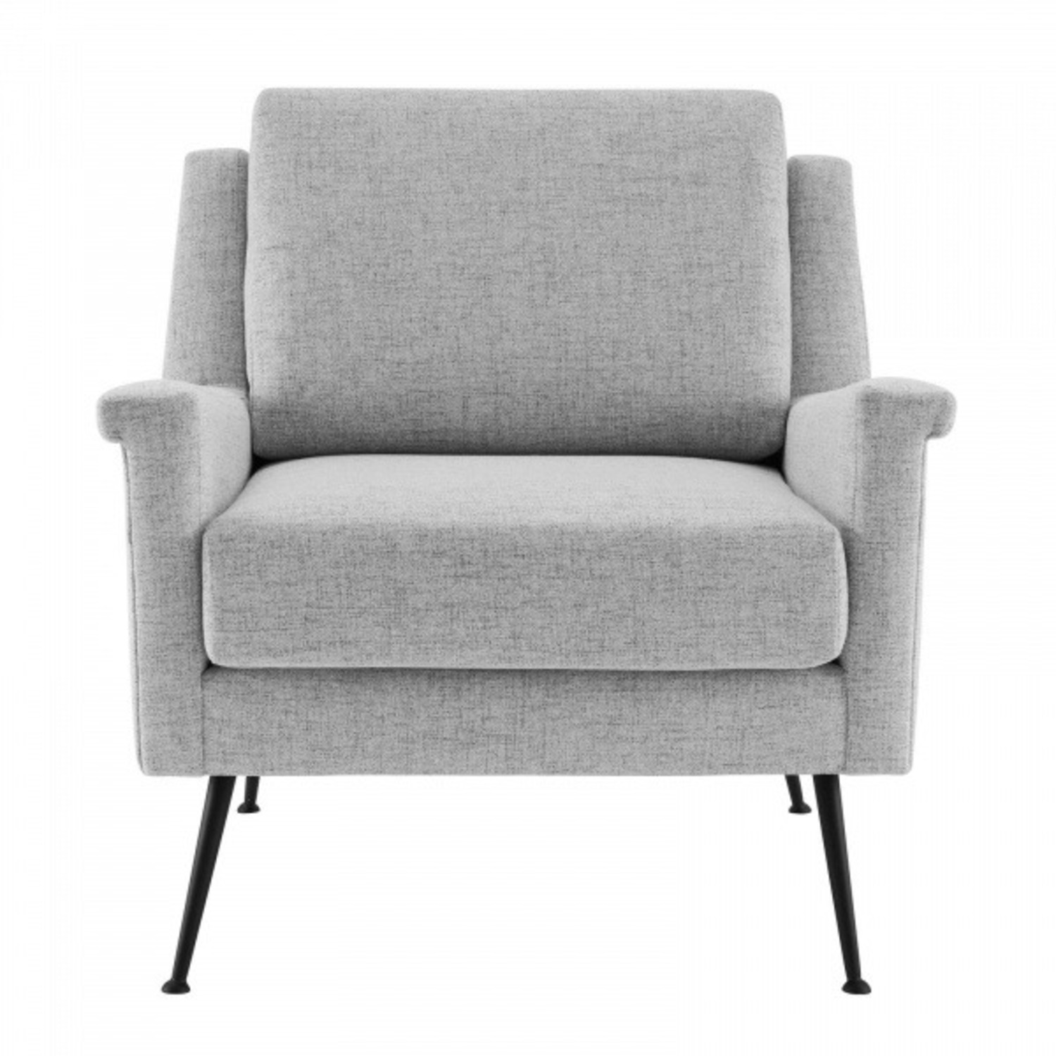 Modern Accent Armchair In Light Gray Fabric - image-0