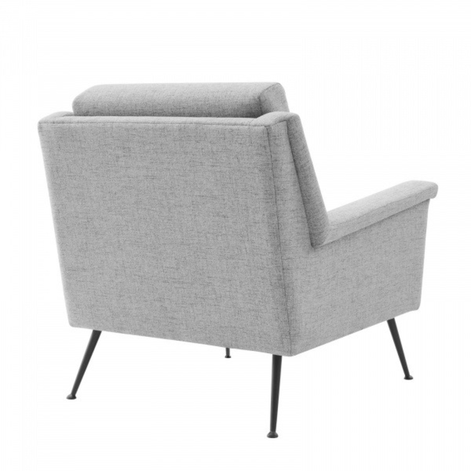 Modern Accent Armchair In Light Gray Fabric - image-2