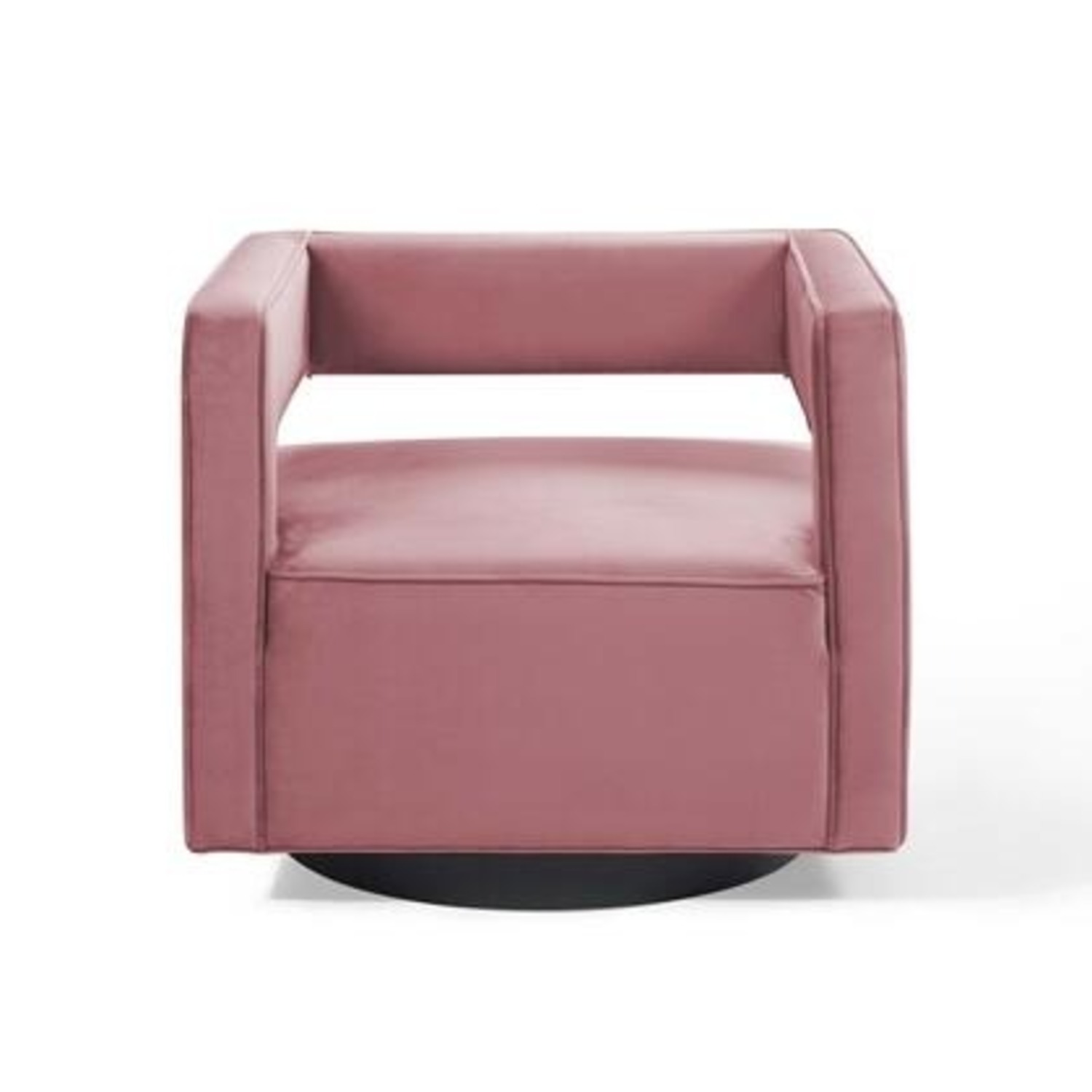 Armchair In Dusty Rose W/ Squared Cutaway Back - image-0