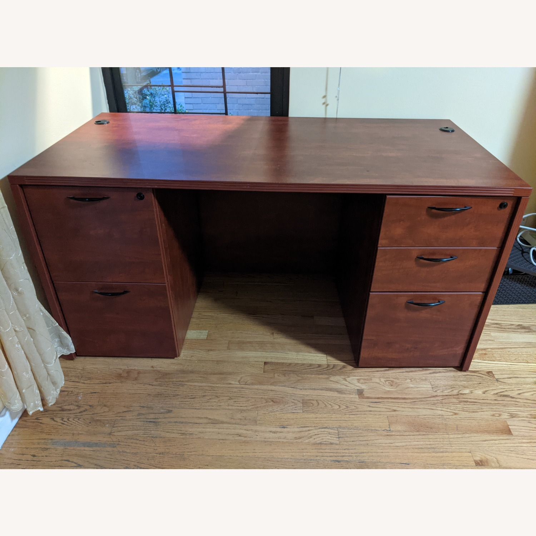 Executive Pedestal Desk w/filing Drawers - image-1