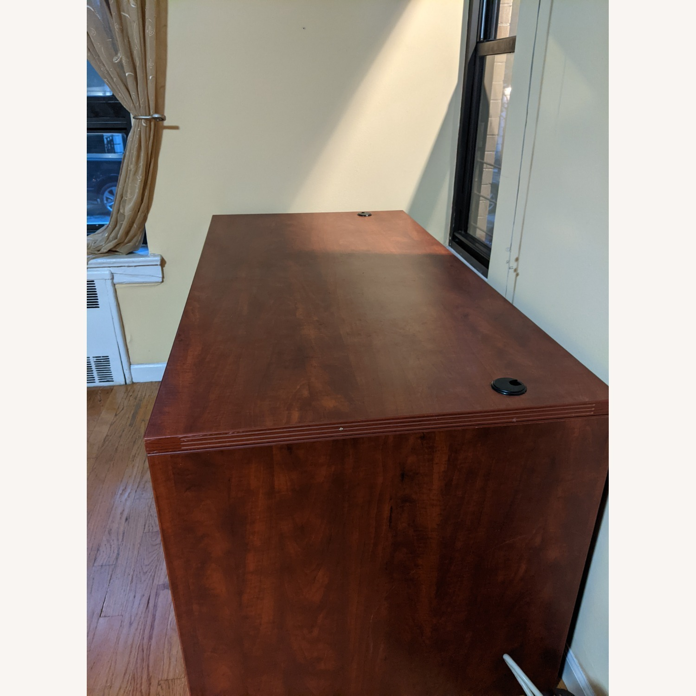 Executive Pedestal Desk w/filing Drawers - image-4