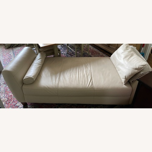 Used Stylish Faux Leather Daybed in Natural Color for sale on AptDeco