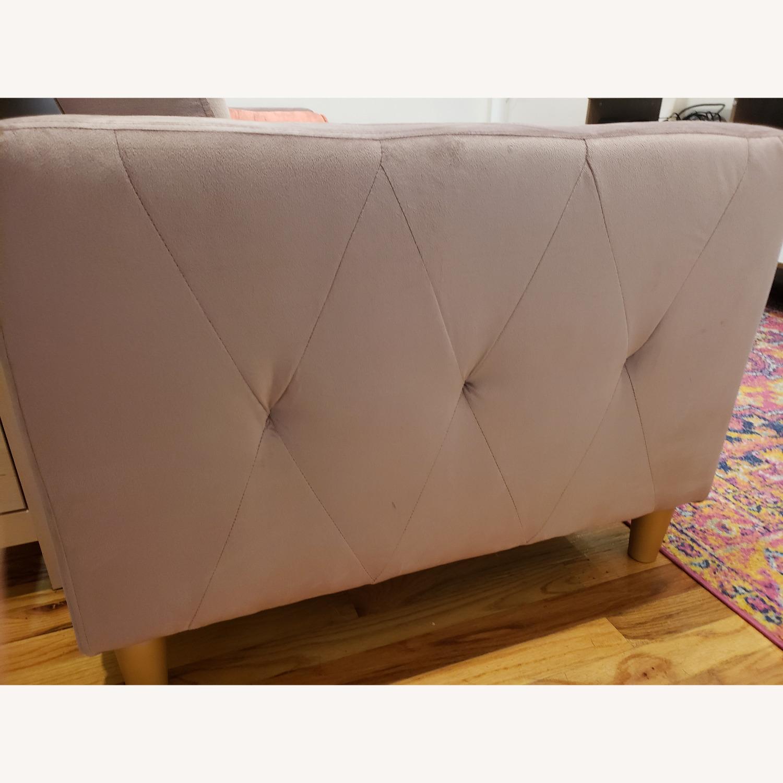 Wayfair Blush Storage/Sleeper Sofa with Chaise - image-6