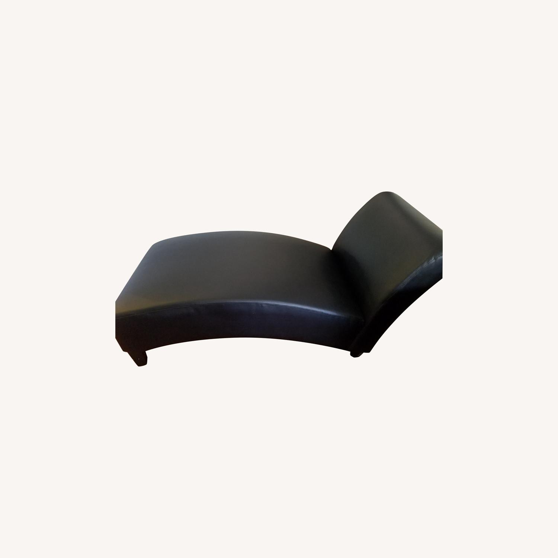 Wayfair Brennan Leather Chaise Lounge - image-0