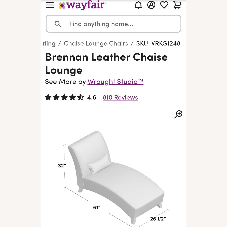 Wayfair Brennan Leather Chaise Lounge - image-5