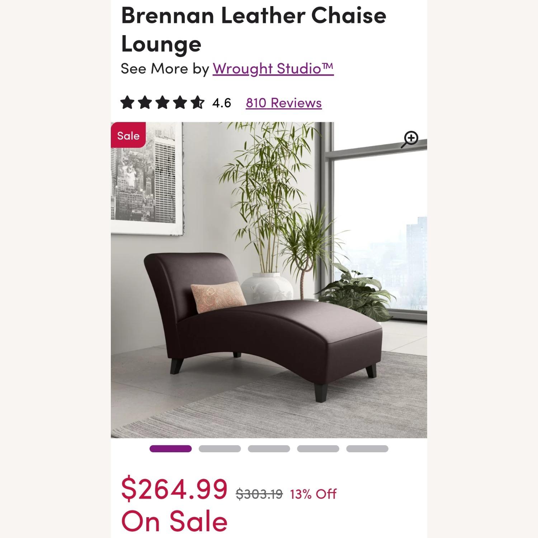 Wayfair Brennan Leather Chaise Lounge - image-4