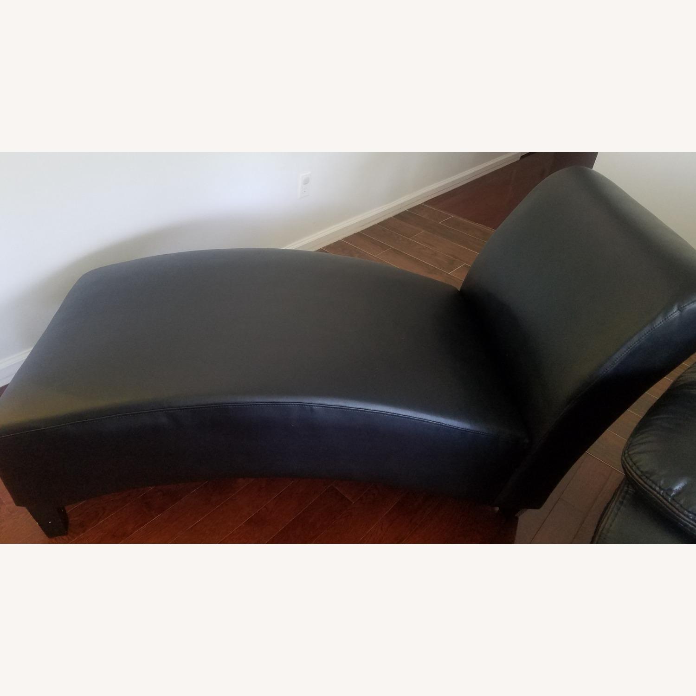 Wayfair Brennan Leather Chaise Lounge - image-1