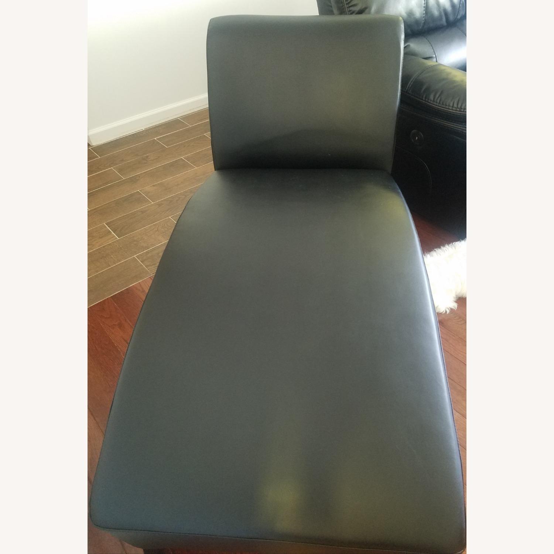 Wayfair Brennan Leather Chaise Lounge - image-3
