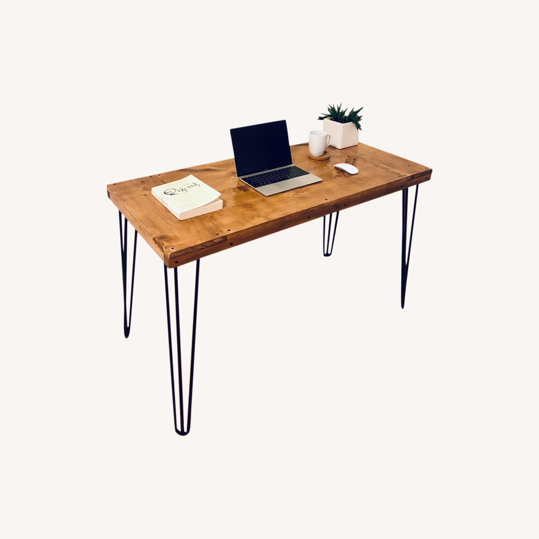 Handmade Desk - Walnut - Mid Century Modern - image-6