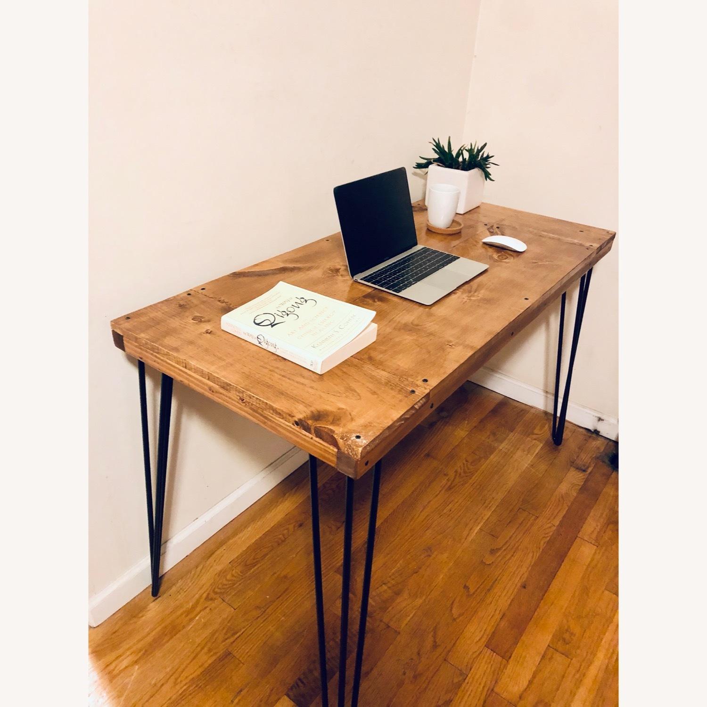 Handmade Desk - Walnut - Mid Century Modern - image-1