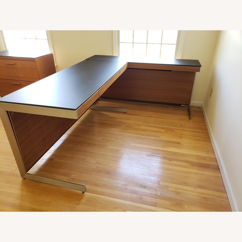 BDI Sequel Office - Side Desk Return in Walnut - image-0