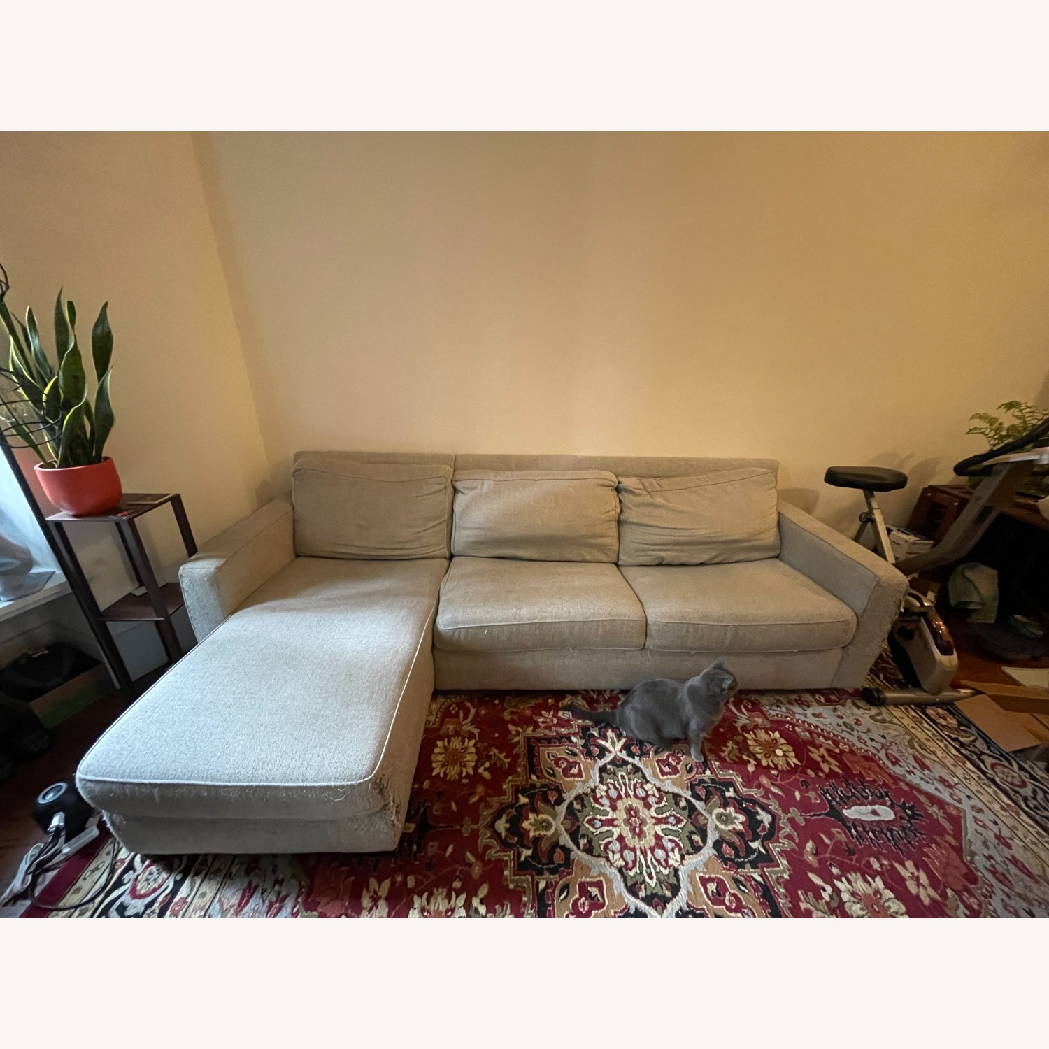 West Elm Gray Henry Sleeper Sofa with Chaise - image-2